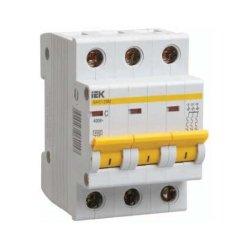 Автоматический выключатель ИЭК ВА47-29М 3P 16A 4,5кА характеристика C