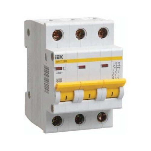 Фото Автоматический выключатель ИЭК ВА47-29М 3P 16A 4,5кА характеристика C Электробаза