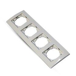 Рамка 4-я (Nilson Plus) белая