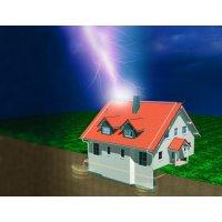Как защитить дом от удара молнии?