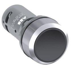 Кнопка прихована 1НВ, без фікс., хром. мет. кільце, чорна CP1-30B-10