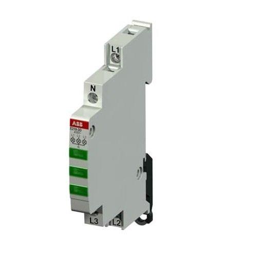 Фото Индикатор трифазний АВВ 230-415В АС 3хLED зелений E219-3D Электробаза