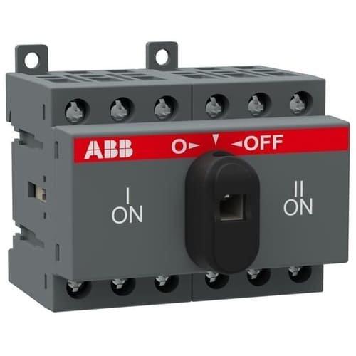 Фото Перемикач навантаження АВВ І-0-ІІ OT16F3C з ручкою 7,5кВт 16А Электробаза