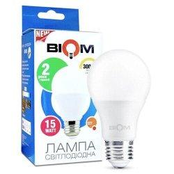Лампы BIOM smd 15Вт А65 E27  теплий білий