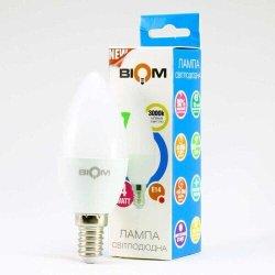 Лампы BIOM smd 4Вт C37 E14  теплий білий