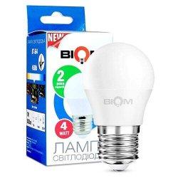 Лампы BIOM smd 4Вт G45 E27 нейтральний білий