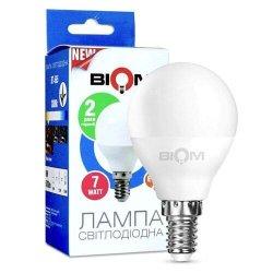 Лампы BIOM smd 7Вт G45 E27  теплий білий