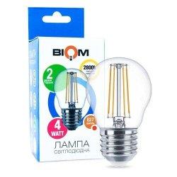 Лампы BIOM Filament 4Вт G45 E27  теплий білий