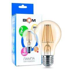 Лампы BIOM Filament 7Вт G45 E27  теплий білий