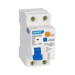 Диф. авт. вимикач NXBLE-63Y 1P+N D20 10мА, тип АС, 4.5kA