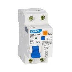 Диф. авт. вимикач NXBLE-63Y 1P+N D40 10мА, тип АС, 4.5kA
