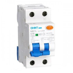 Диф. авт. вимикач NB1L-63 2P C50 30mA, ел-мех. тип AC, 6kA