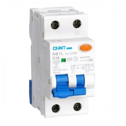 Фото Диф. авт. вимикач NB1L 1P+N (36мм) B20 30mA, ел-мех. тип АС, 10kA Электробаза