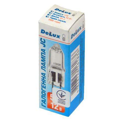 Фото Лампа галогеновая 50W 12V G5.3 JC (DELUX) Электробаза