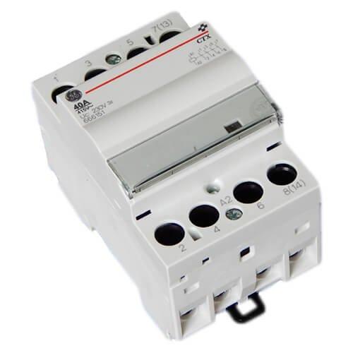 Фото Модульный контактор CTX 40 40 230 U 40A, 230V AC/DC General Electric Электробаза