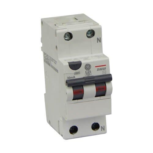 Фото Диф автомат DM60C25/030 2P AC, 6kA General Electric Электробаза