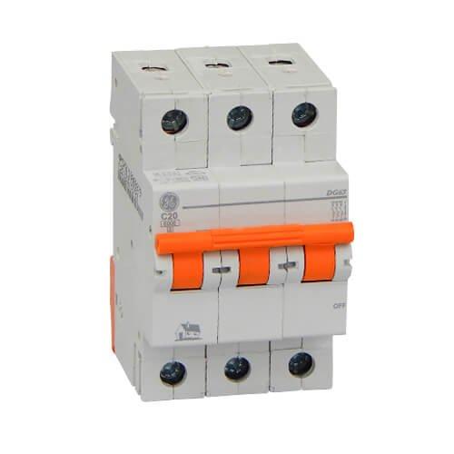 Фото Автоматичний вимикач DG 63 C20А 6kA General Electric Электробаза