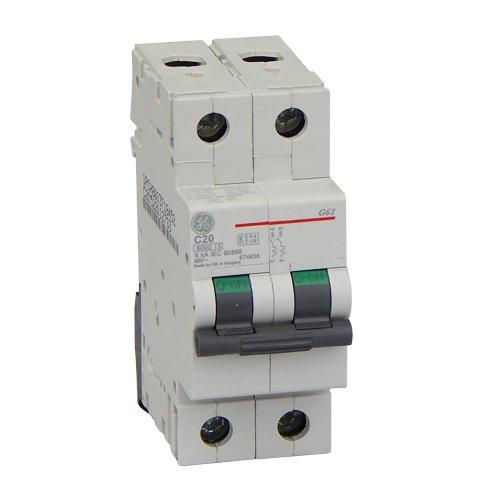 Фото Автоматический выключатель G62 C20А 6kA General Electric Электробаза
