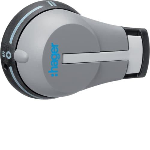Фото Ручка виносна IP55 для вимикачів HI…R 63А-125A, модульні HA 80А-250А Hager Электробаза