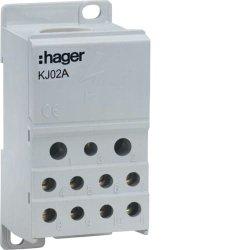 Блок розгалужуючий 250А, ввод 1х95мм2, вихід 2х25х16 і 4х10мм2,  Hager