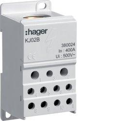 Блок розгалужуючий 400А, ввод 1х150мм2, вихід 2х25х16 і 4х10мм2,  Hager
