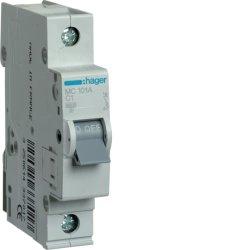 Автоматичний вимикач 1P 6kA C-1A 1M Hager