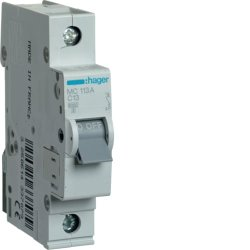 Автоматичний вимикач 1P 6kA C-16A 1M Hager