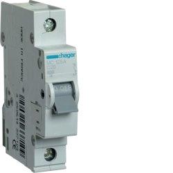 Автоматичний вимикач 1P 6kA C-25A 1M Hager