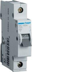 Автоматичний вимикач 1P 6kA C-32A 1M Hager