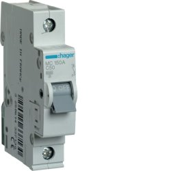 Автоматичний вимикач 1P 6kA C-50A 1M Hager