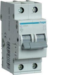 Автоматичний вимикач 2P 6kA C-6A 2M Hager