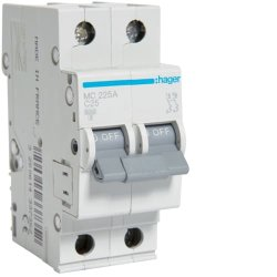 Автоматичний вимикач 2P 6kA C-25A 2M Hager