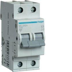 Автоматичний вимикач 2P 6kA C-32A 2M Hager