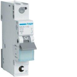 Автоматичний вимикач QC 1P 6kA C-10A 1M Hager