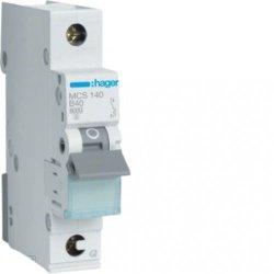 Автоматичний вимикач QC 1P 6kA C-40A 1M Hager