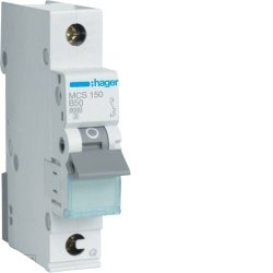 Автоматичний вимикач QC 1P 6kA C-50A 1M Hager
