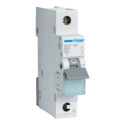 Автоматичний вимикач QC 1P 6kA C-63A 1M Hager