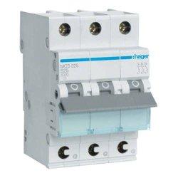 Автоматичний вимикач QC 3P 6kA C-25A 3M Hager