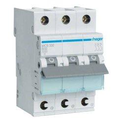 Автоматичний вимикач QC 3P 6kA C-32A 3M Hager