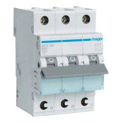 Автоматичний вимикач QC 3P 6kA C-50A 3M Hager