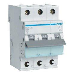 Автоматичний вимикач QC 3P 6kA C-63A 3M Hager