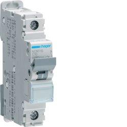 Автоматичний вимикач 1P 10kA C-10A 1M Hager