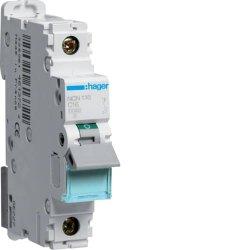Автоматичний вимикач 1P 10kA C-16A 1M Hager