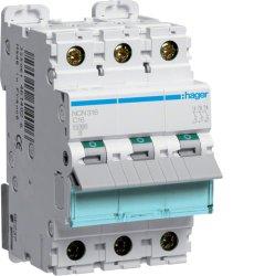 Автоматичний вимикач 3P 10kA C-16A 3M Hager