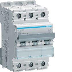 Автоматичний вимикач 3P 10kA C-40A 3M Hager