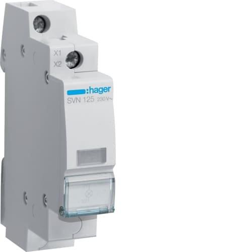 Фото Індикатор LED 230В, білий Hager Электробаза