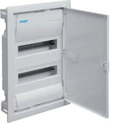 Щит на 24(28) модулей внутренней установки с металлической дверью Hager Volta