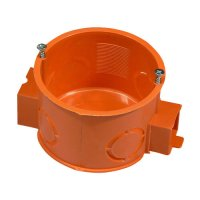 Фото Коробка установочная D60мм бетон блочная РК-60 (оранжевая) с
