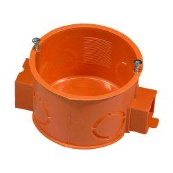 Коробка установочная D60мм бетон блочная РК-60 (оранжевая) с метизами