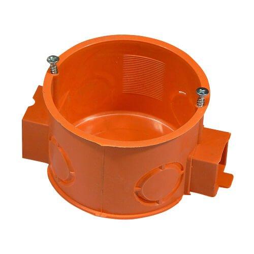 Фото Коробка установочная D60мм бетон блочная РК-60 (оранжевая) с метизами Электробаза